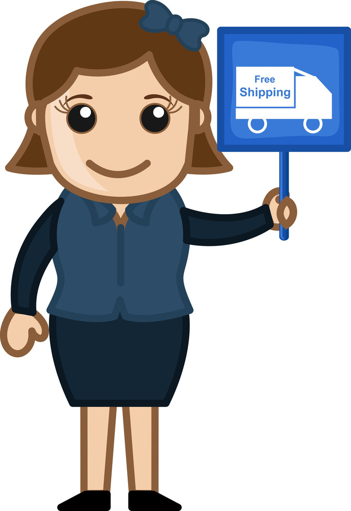 Free Shipping Offer - Cartoon Vector