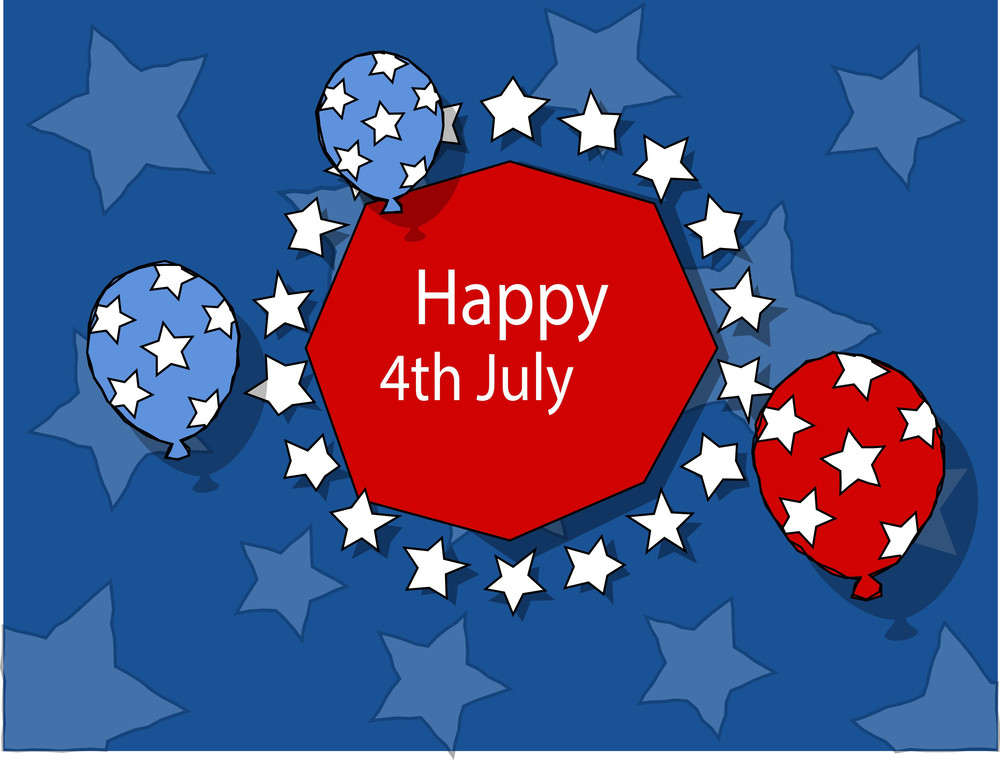 Freedom 4th Of July Vector Illustration