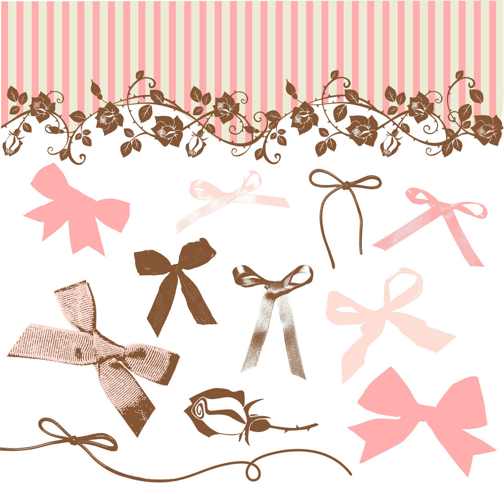 French Bows And Roses