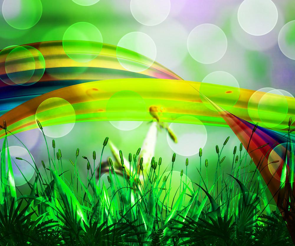 Fresh Abstract Rainbow Background