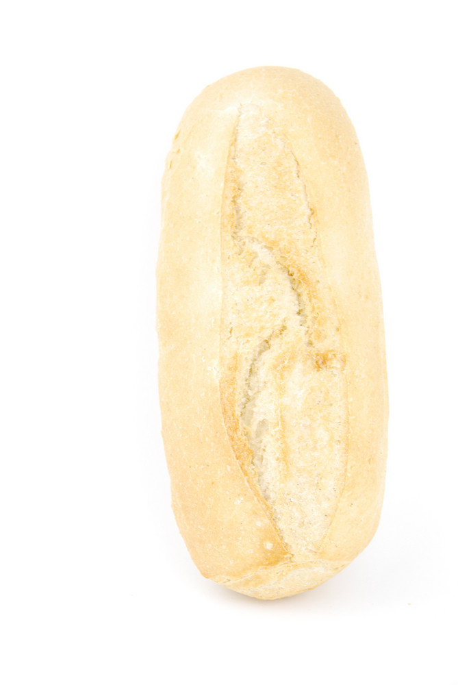 Fresh And Homemade White Bread Called Baguette