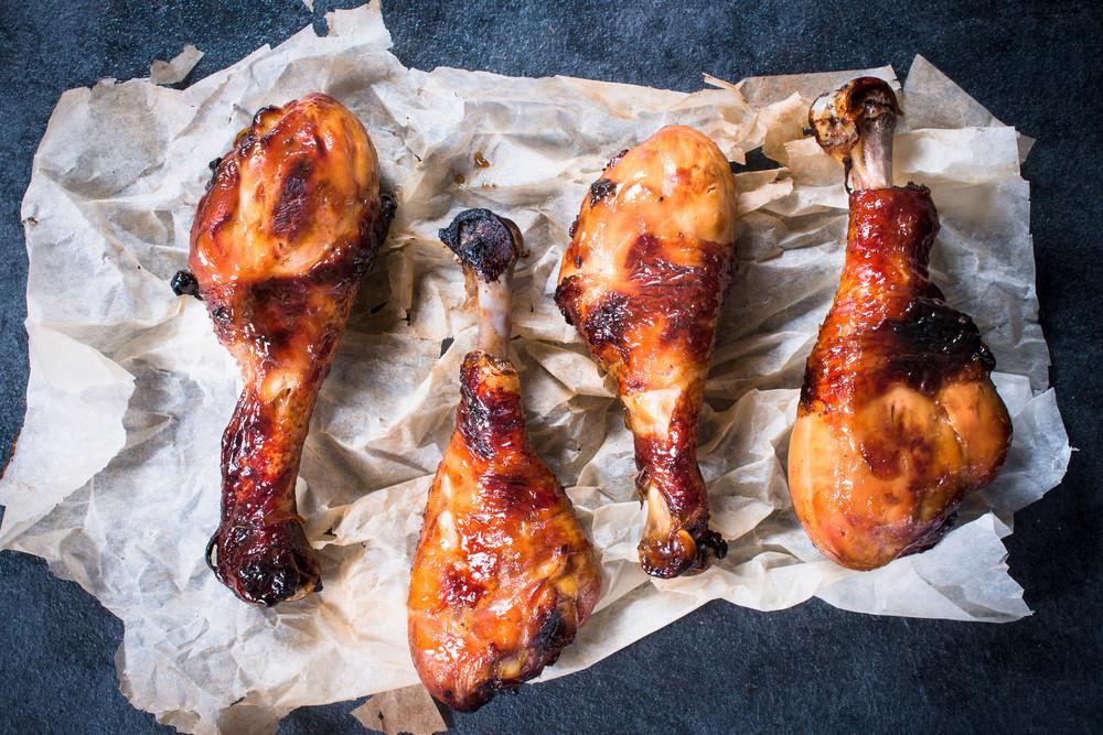 Fried Chicken Legs On Paper