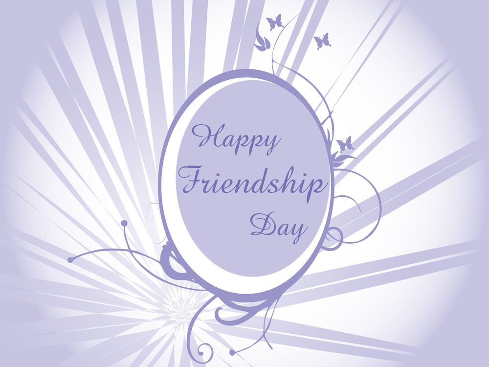 Friendship Day Frame With Rays Background
