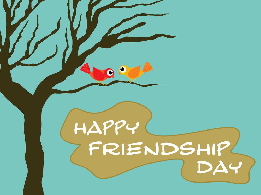 Friendship Day Wallpaper Illustration