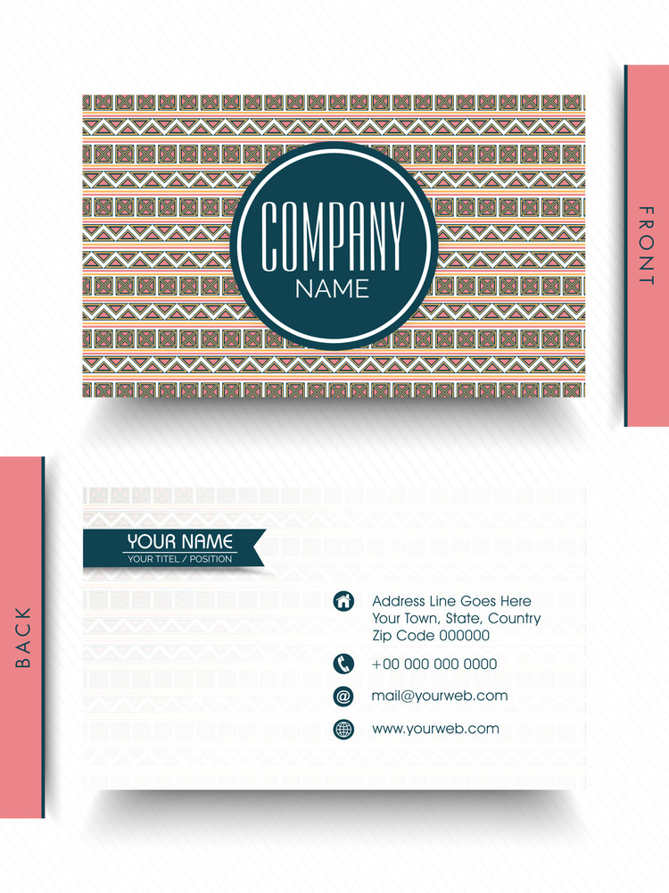 front and back side presentation of a creative business card design for your company and organization - Back Of Business Card