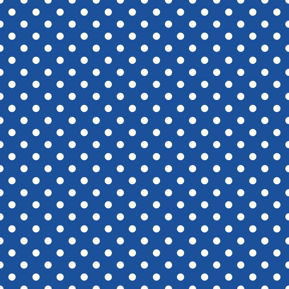 White Polka Dot Pattern On Blue Frozen Inspired Paper