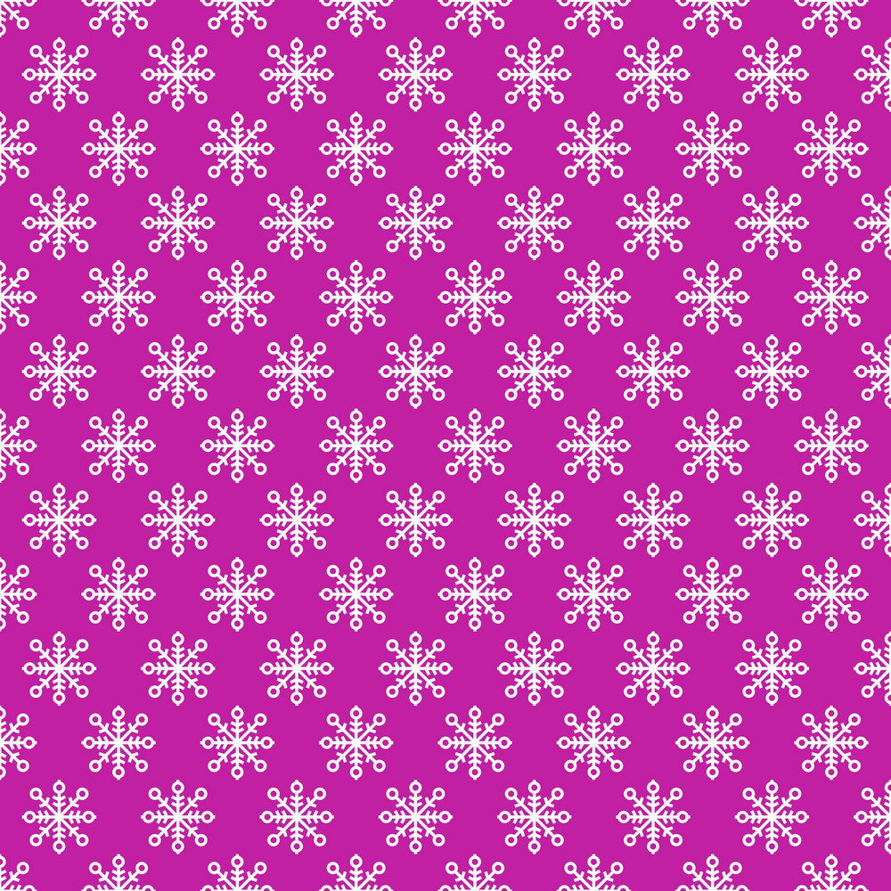 White Snowflake Pattern On Purple Frozen Inspired Paper