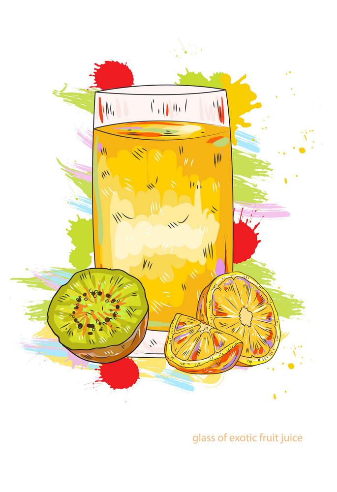 Fruit Juice Vector  Illustration