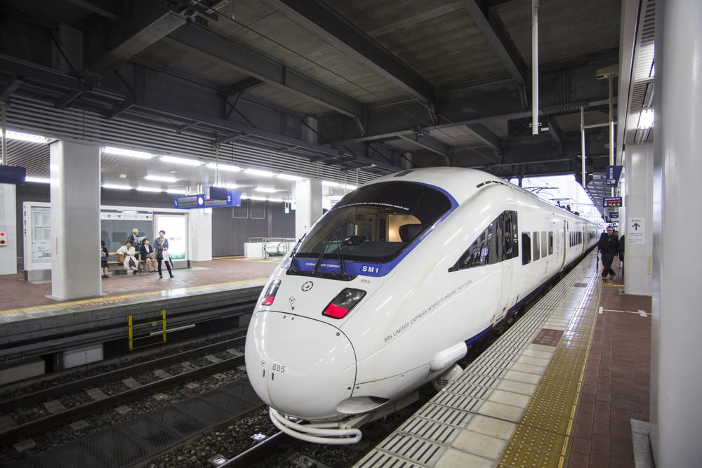 FUKUOKA, JAPAN - OCTOBER 24: Shinkansen in Fukuoka, Japan on October 24, 2013. Japan's southern islands.