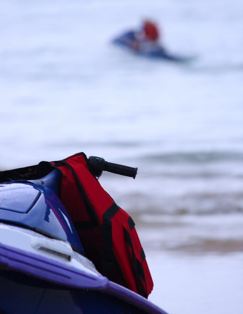Fun In The Ocean Using A Jet Ski