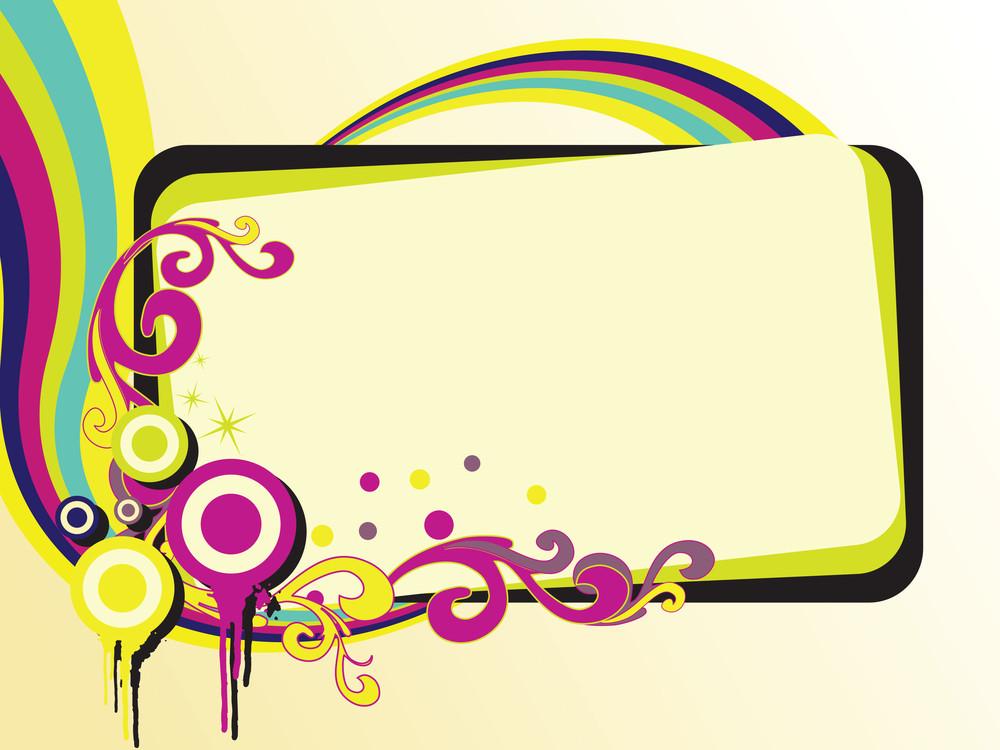 Funky Banner Illustration