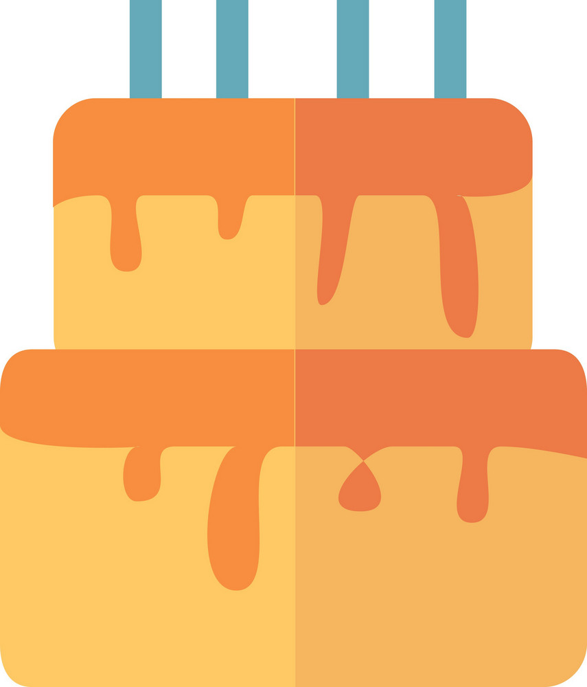 Funky Birthday Cake Icon