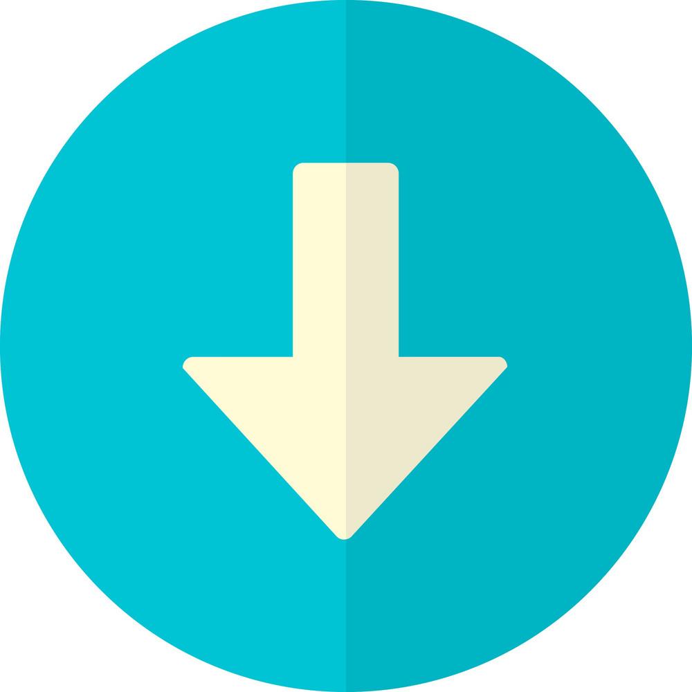 Funky Button Arrow Down Icon
