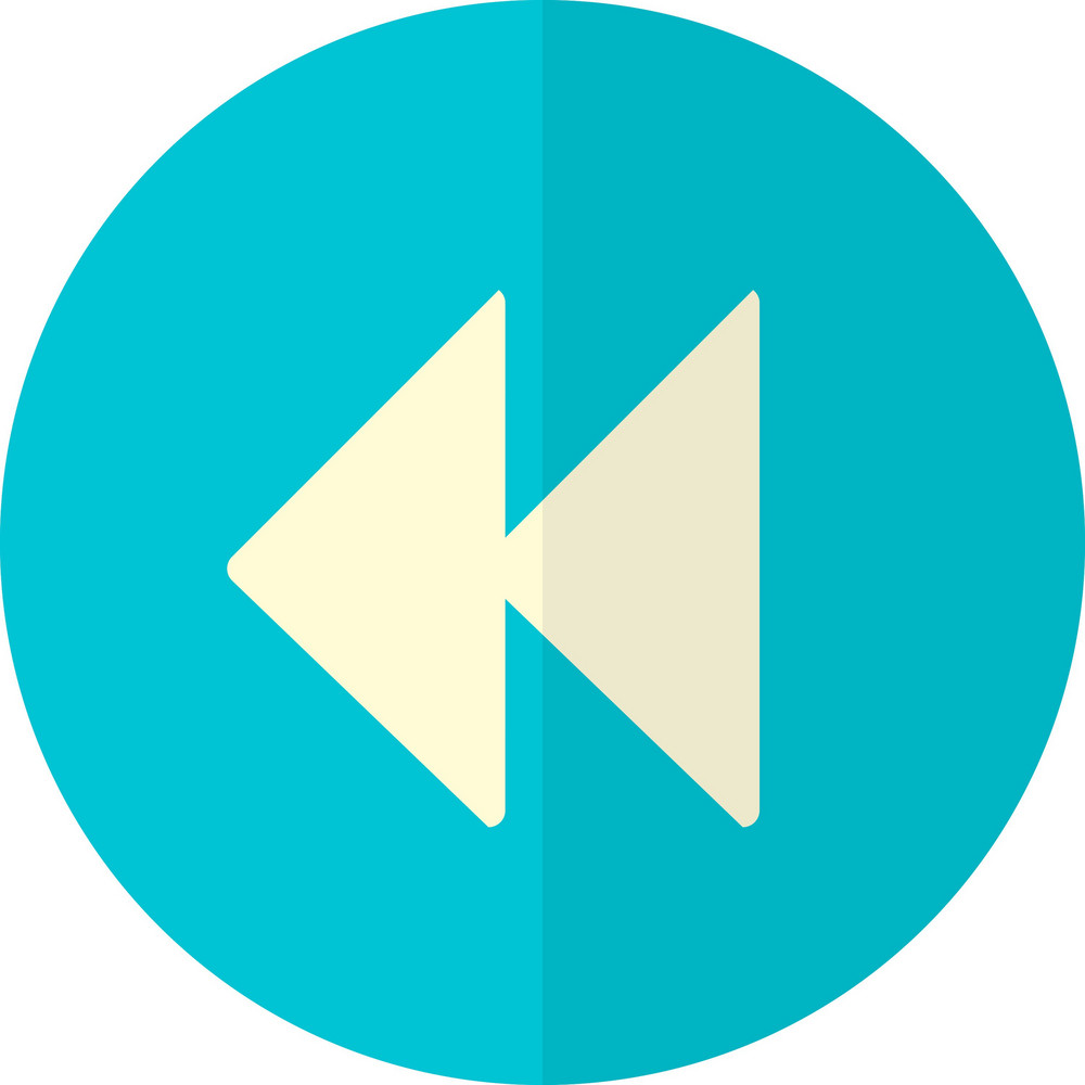 Funky Button Rewind Icon