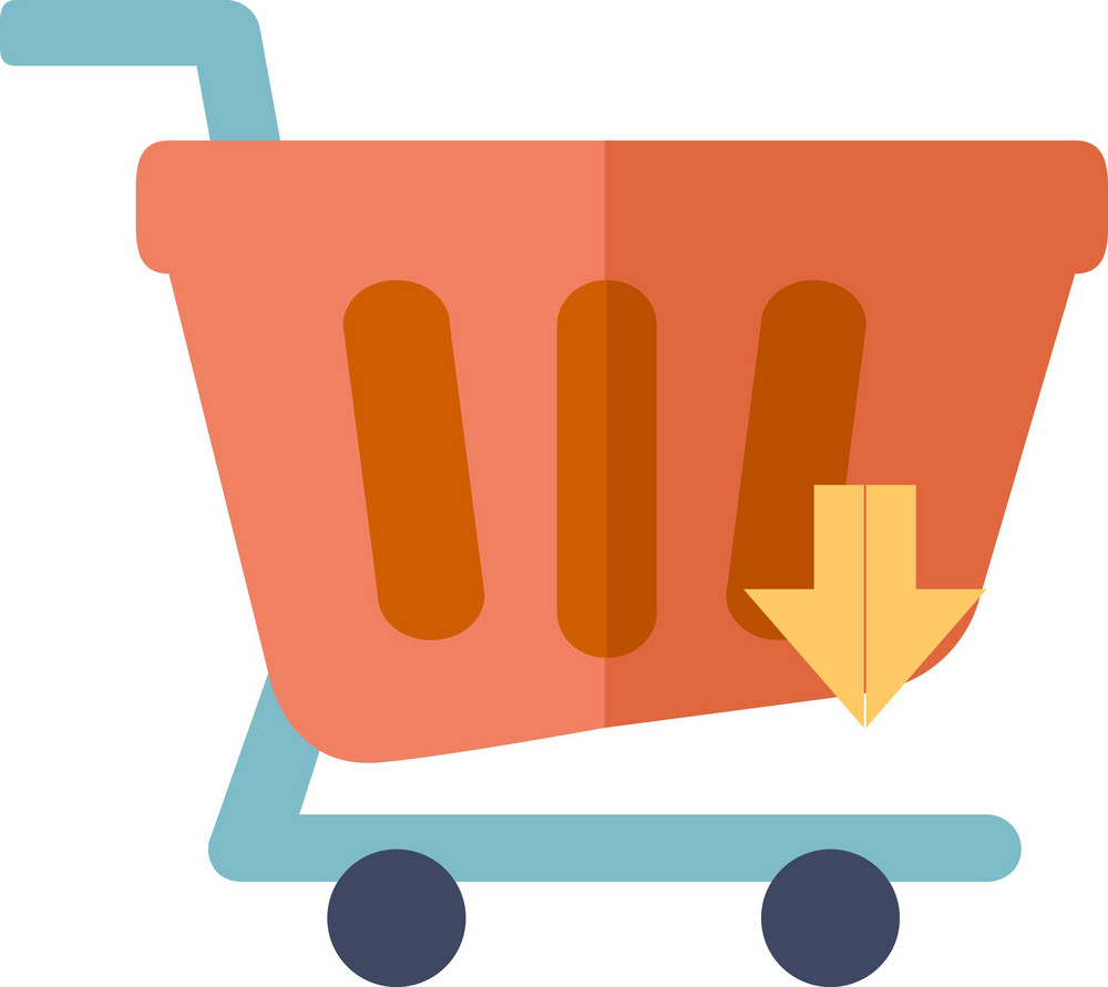 Funky Cart Down Icon