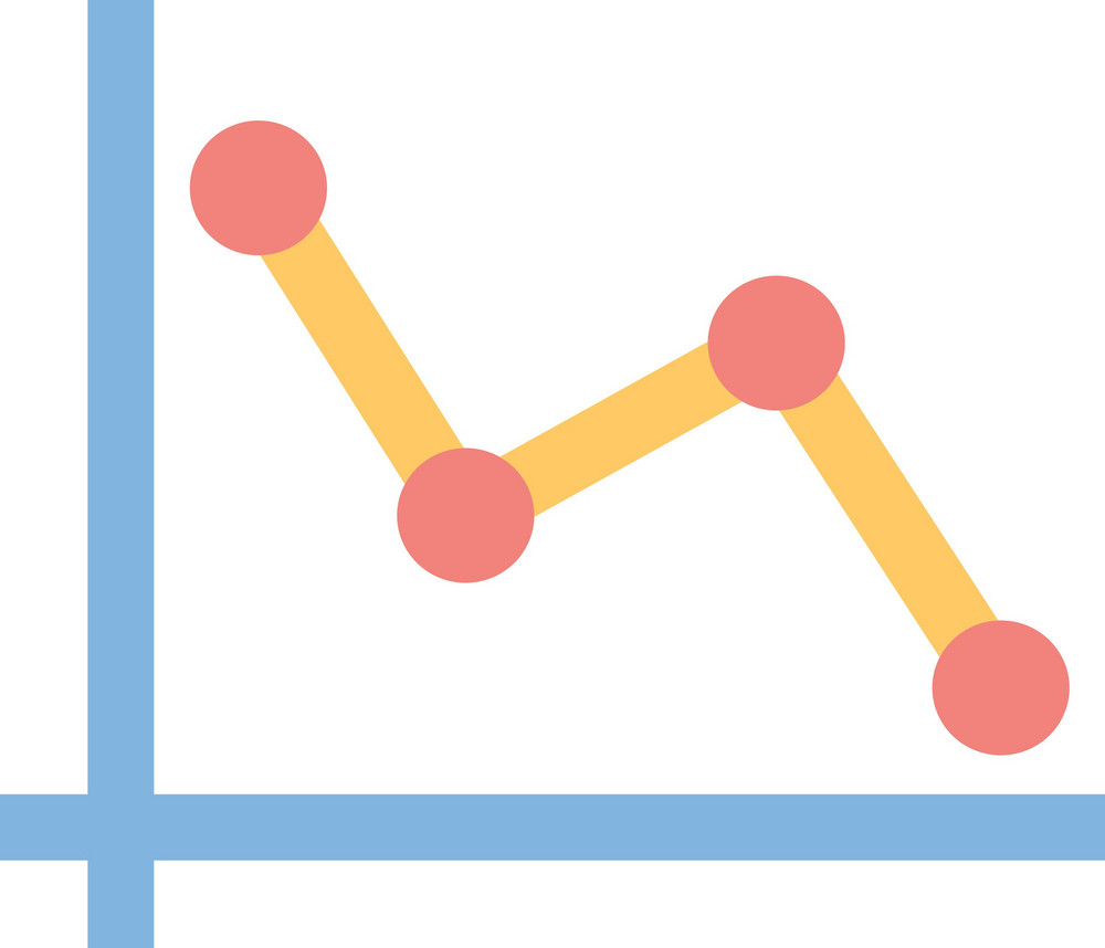 Funky Chart Down Icon