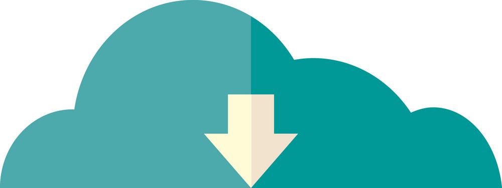 Funky Cloud Down Icon