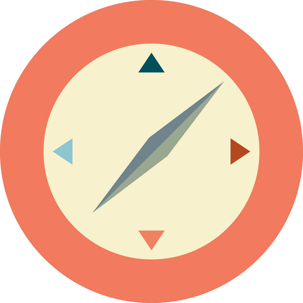 Funky Compass Icon