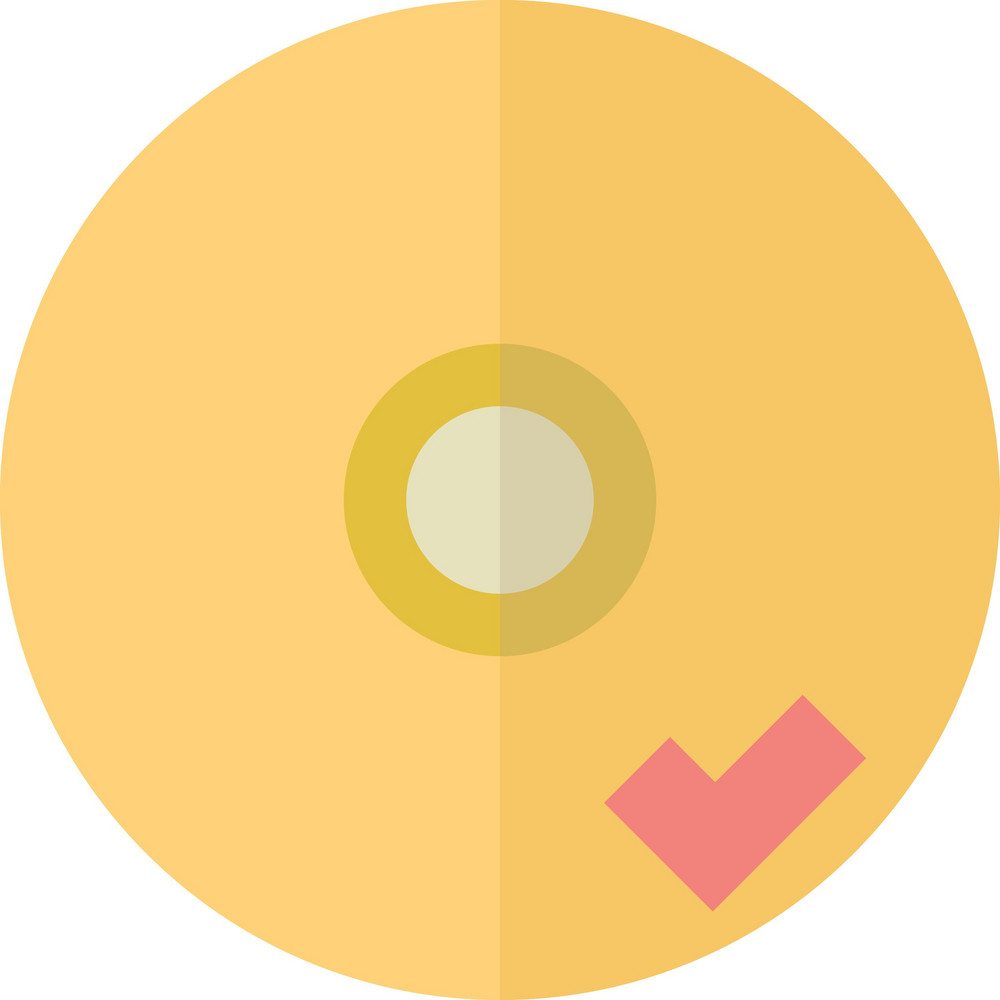 Funky Disc Check Icon