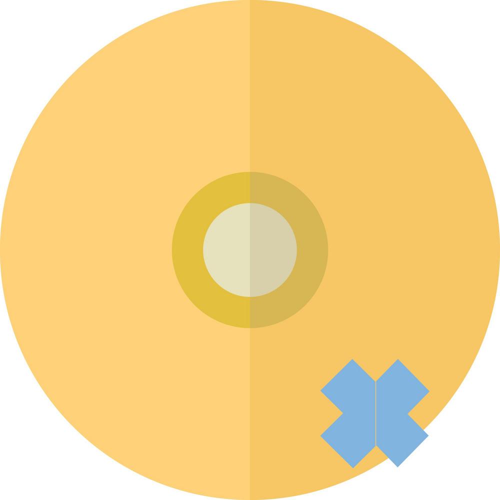 Funky Disc Delete Icon