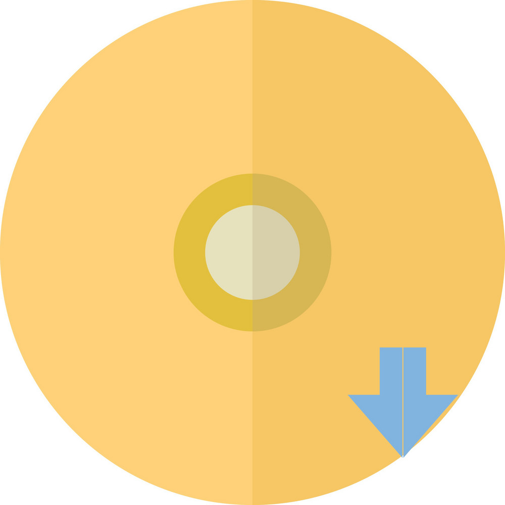 Funky Disc Down Icon