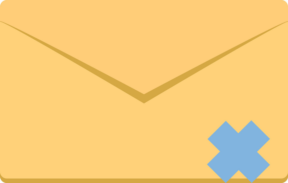 Funky Email Delete Icon