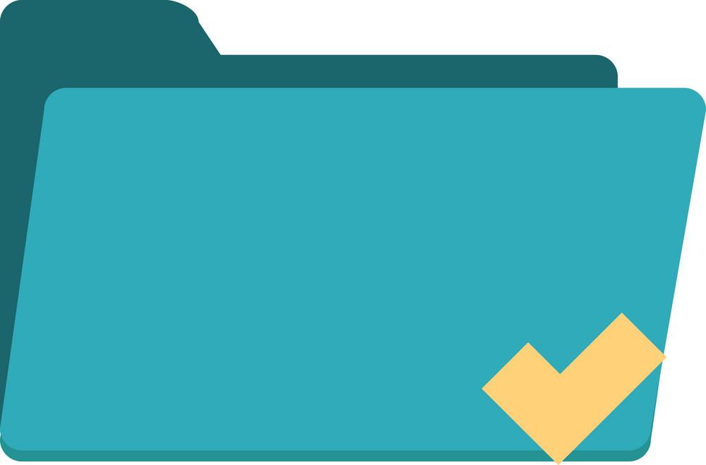Funky Folder Check Icon