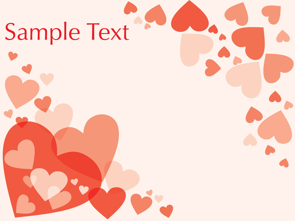 Funky Hearts Isolated On White