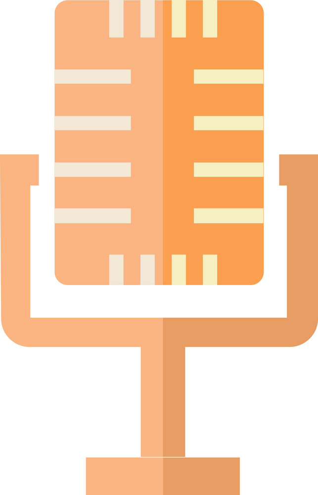 Funky Microphone Icon