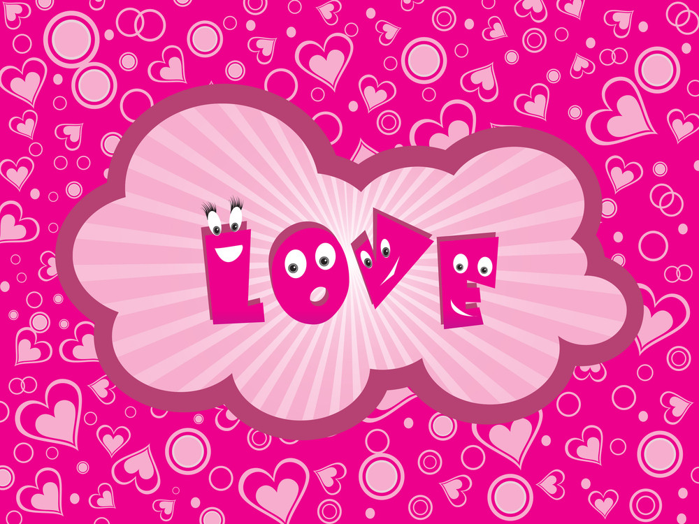 Funky Pattern Background For Love