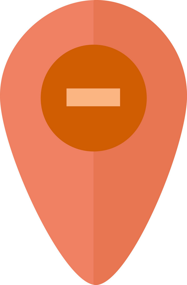 Funky Pin Map Remove Icon
