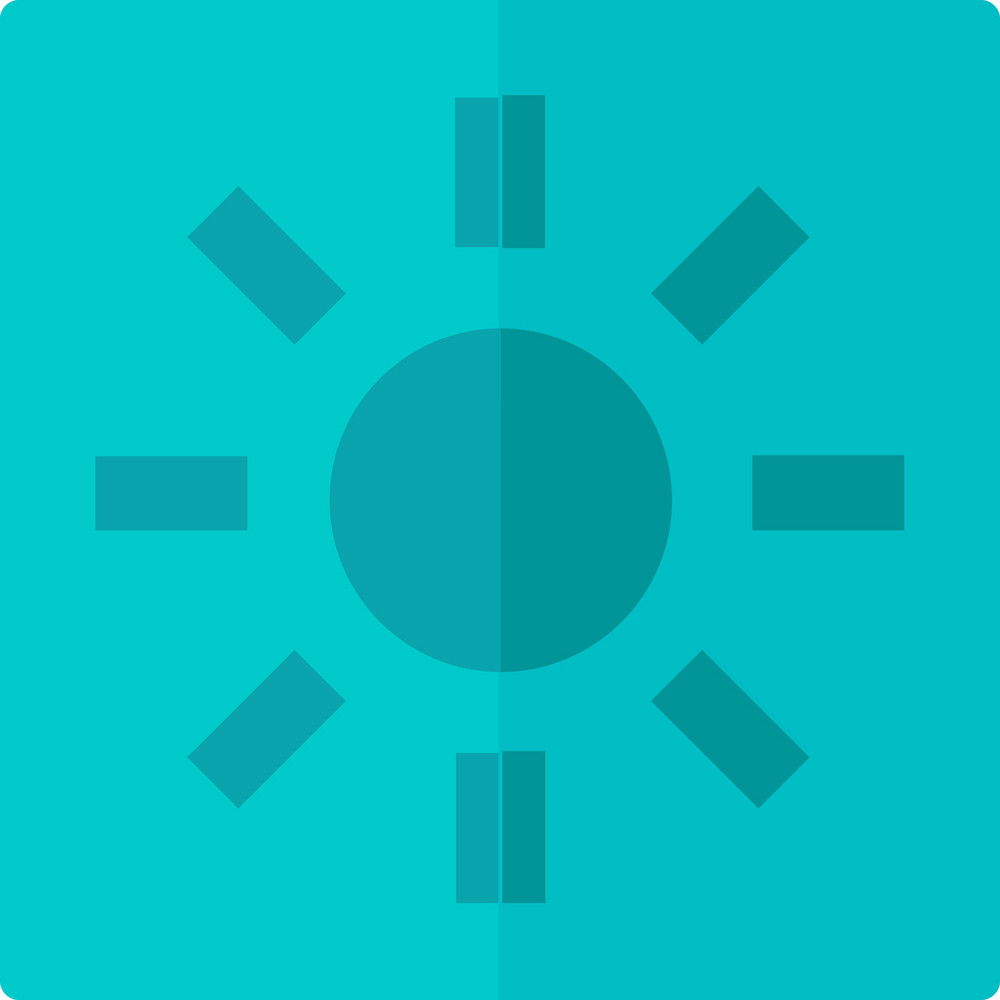 Funky Sun Button Icon