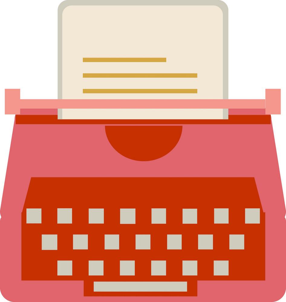 Funky Typewriter Icon
