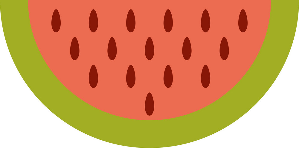 Funky Water Melon Icon