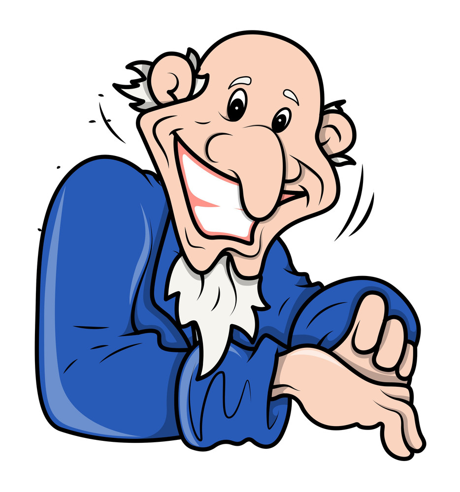 Funny Bald Uncle Sam Style Man Vector