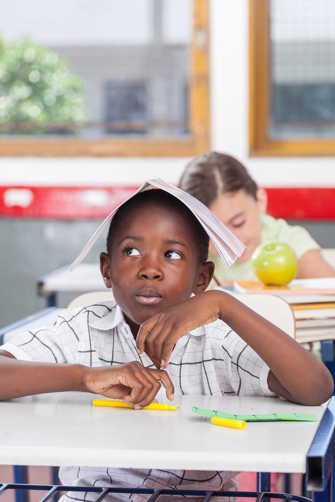 funny black boy in the school