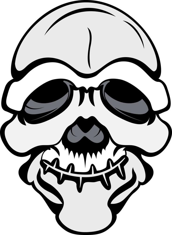 Funny But Scary Skull Vector