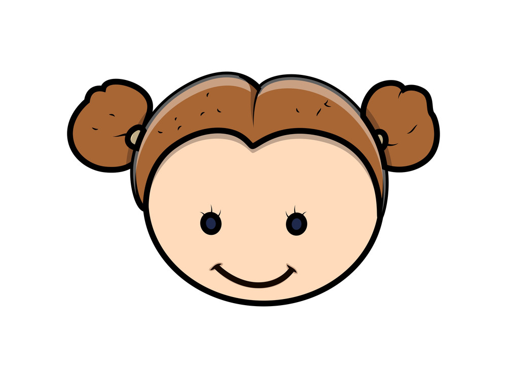 Funny Cartoon Girl Face Expression