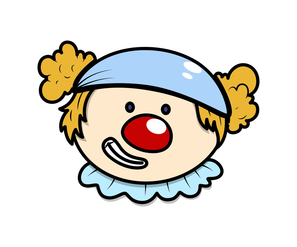 Funny Cartoon Joker Character Face Royalty Free Stock Image