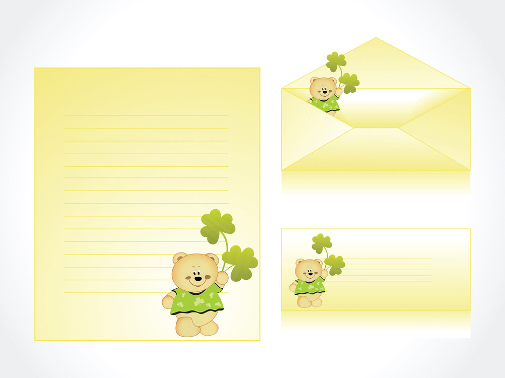 Funny Cartoon Letterhead And Postcard