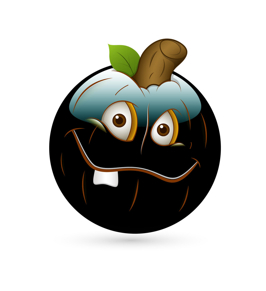 Funny Halloween Pumpkin Smiley Vector