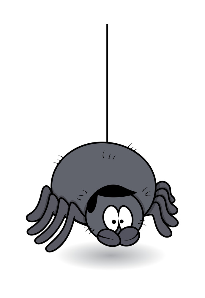 Funny Male Spider - Halloween Vector Illustration