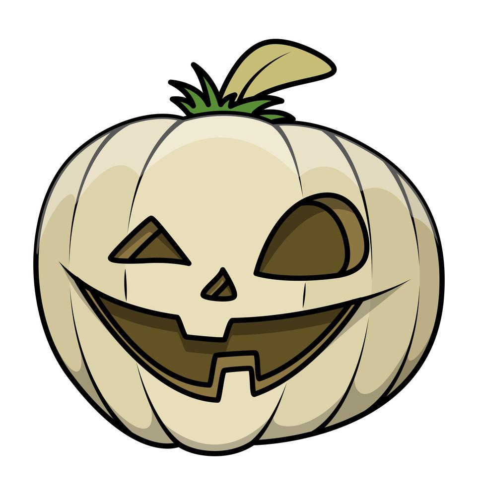 Funny Old Jack O' Lantern - Halloween Vector Illustration