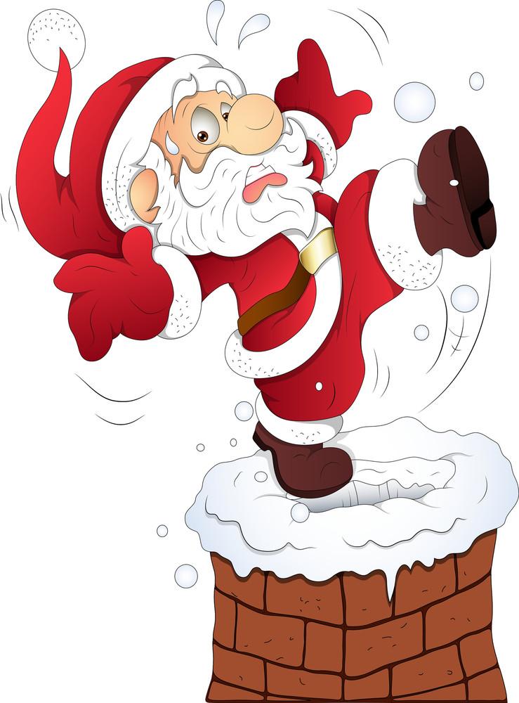 Funny Santa - Christmas Vector Illustration