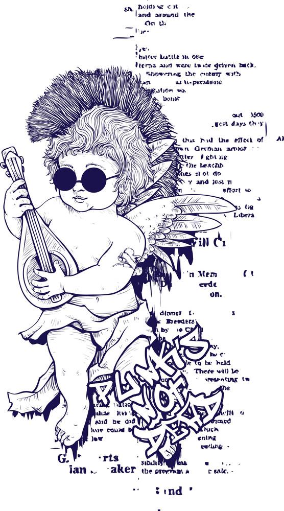 Funny Vintage T-shirt Design With Angel