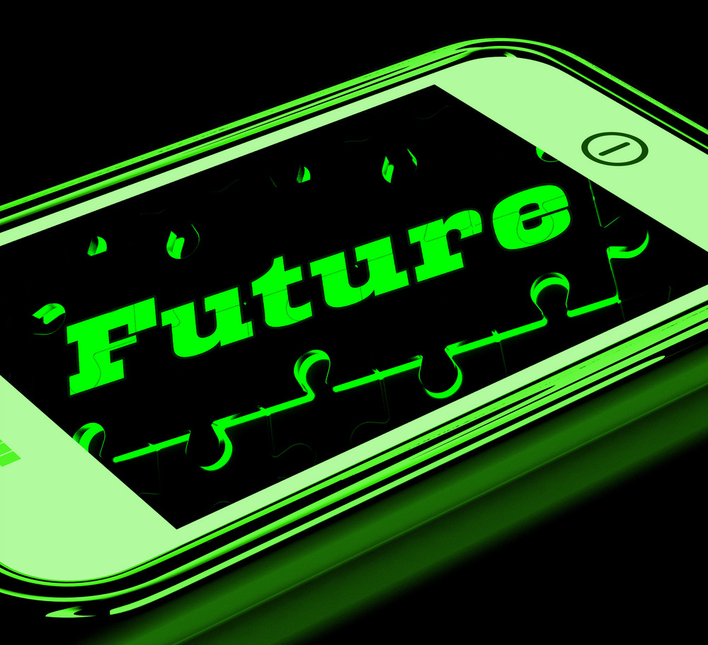 Future On Smartphone Showing Forecasts
