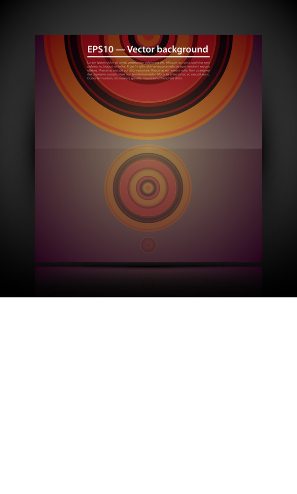 Futuristic Background With Three Circles.