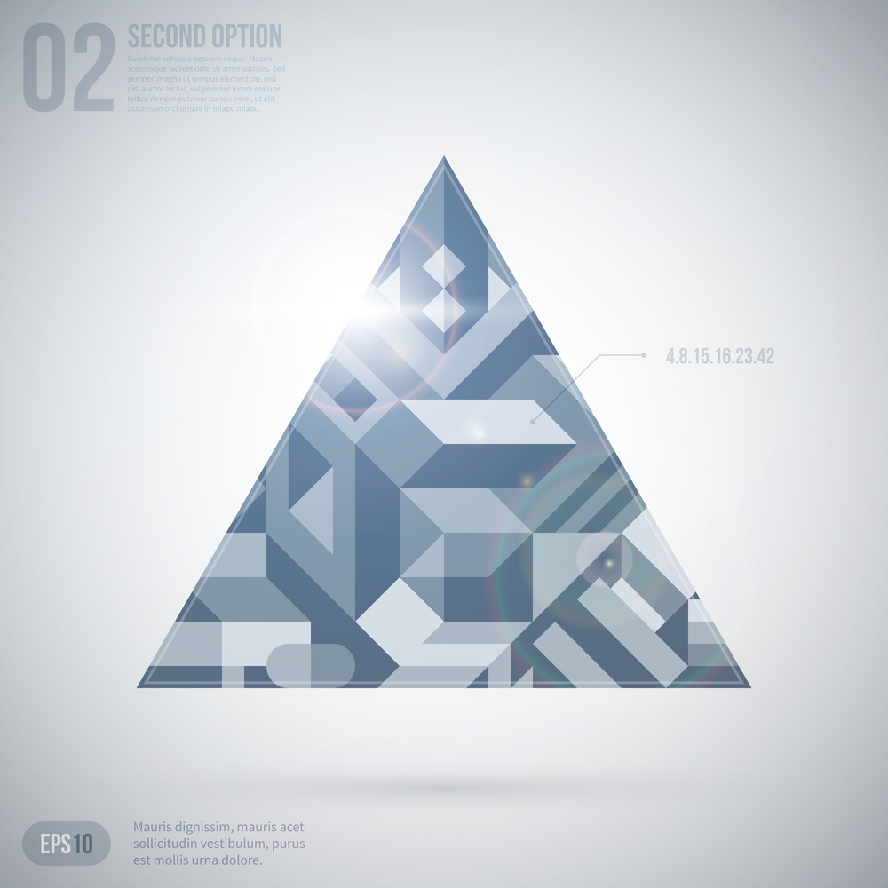 Futuristic Background With Triangle. Eps10.