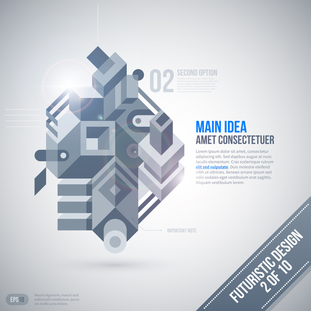 Futuristic Design Template With Geometric Element. 2 Of 10. Eps10.
