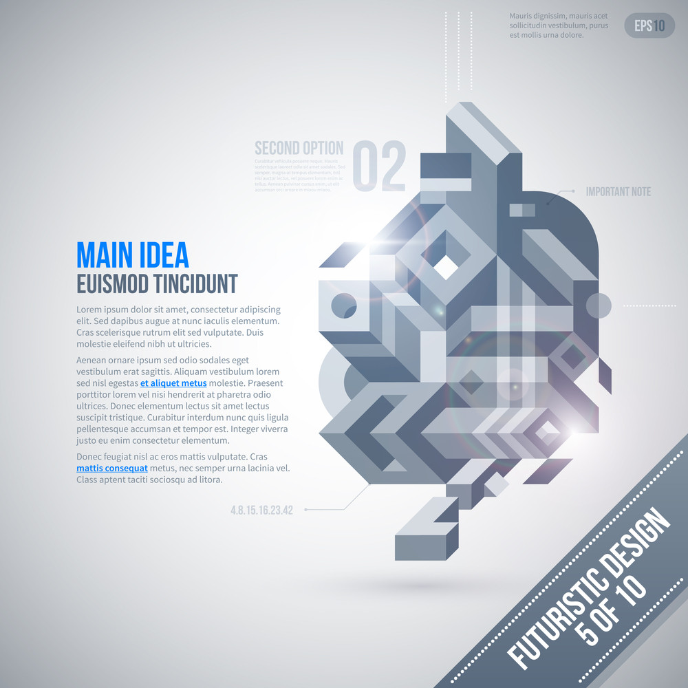 Futuristic Design Template With Geometric Element. 5 Of 10. Eps10.